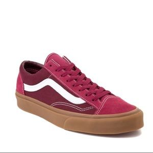 Vans Old Skool Style 36 Red Mens Low Top Shoes
